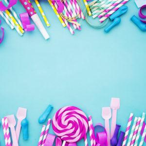 Les gâteaux de bonbons anniversaire