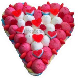 Les gâteaux de bonbons Bouquets et Cœurs