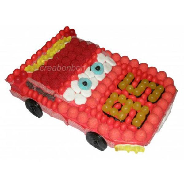 GATEAU DE BONBONS CARS FLASH MCQUEEN