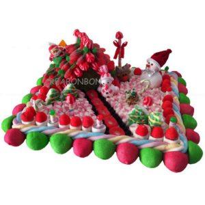 Les gâteaux de bonbons pour Noël
