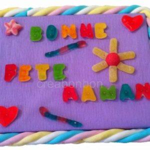 """GATEAU DE BONBONS """" BONNE FETE MAMAN """""""